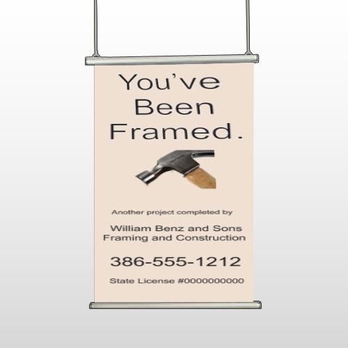 Framed 236 Hanging Banner