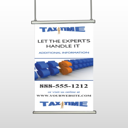 Tax Time 171 Hanging Banner