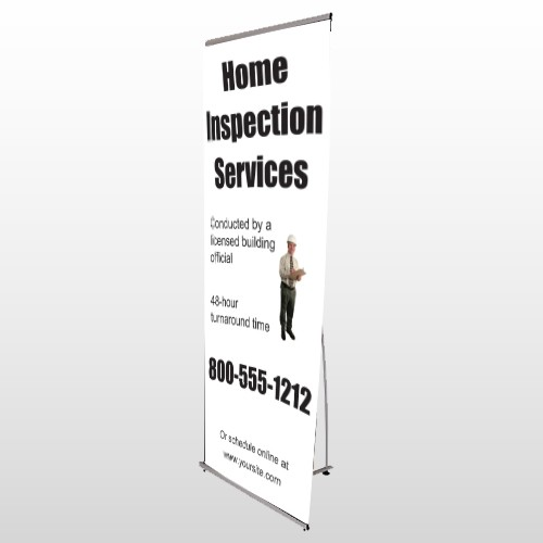 Home Inspection 360 Flex Banner Stand