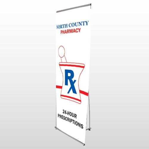Pharmacy 101 Flex Banner Stand