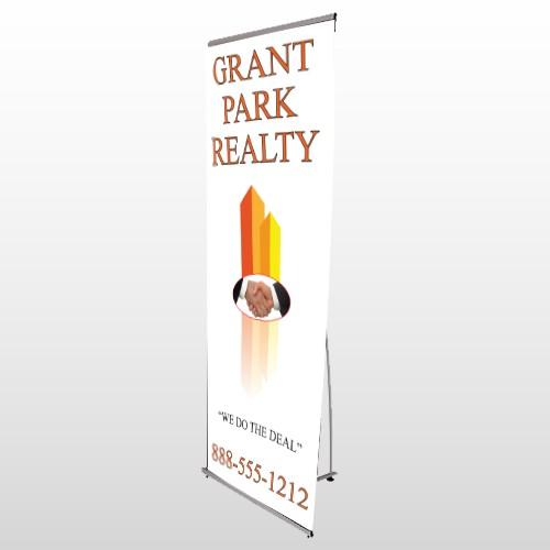 Real Handshake 365 Flex Banner Stand