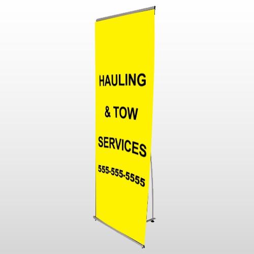 Hauling 127 Flex Banner Stand