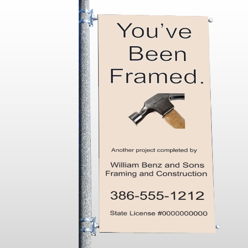 Framed 236 Pole Banner