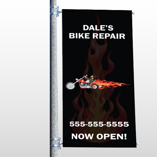 Harley Flame 108 Pole Banner