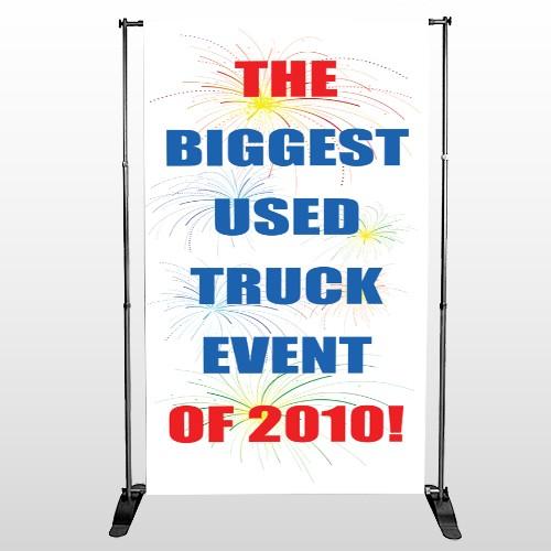 Fireworks 118 Pocket Banner Stand