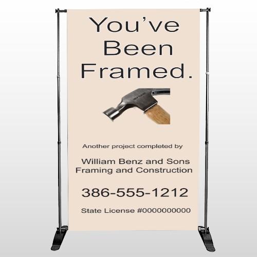 Framed 236 Pocket Banner Stand