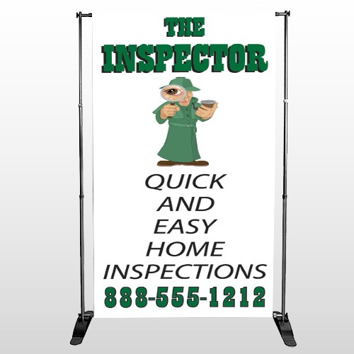 Home Inspection 361 Pocket Banner Stand