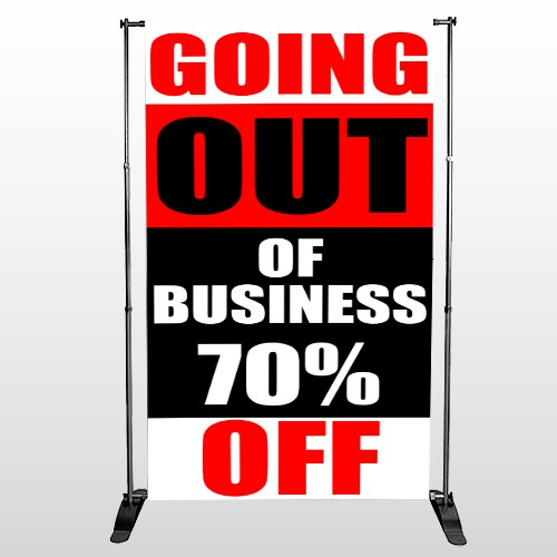 Small Business 53 Pocket Banner Stand