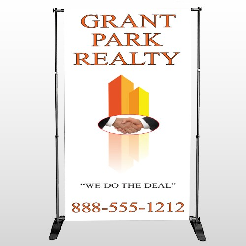 Real Handshake 365 Pocket Banner Stand