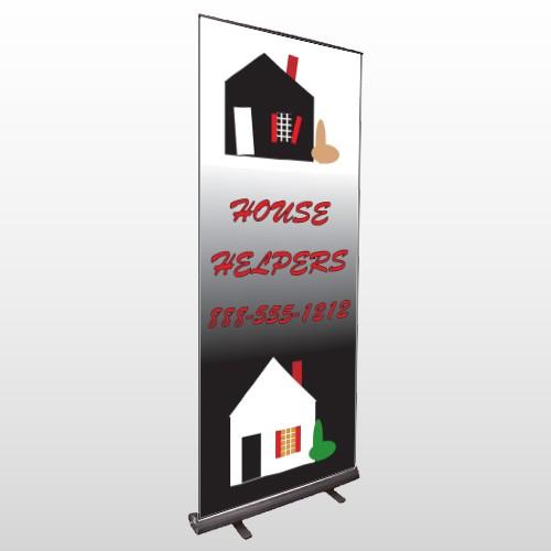 Househelper 245 Retractable Banner Stand