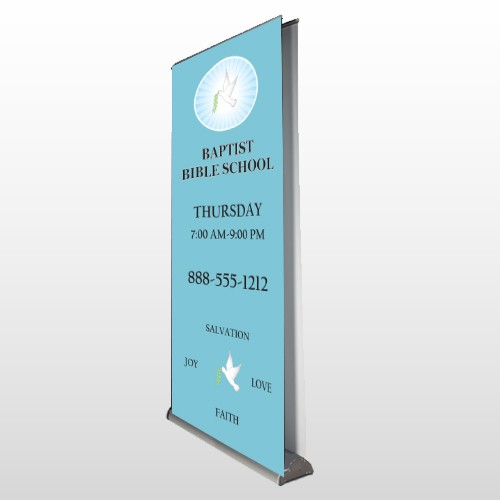Bible Dove 162 Retractable Banner Stand