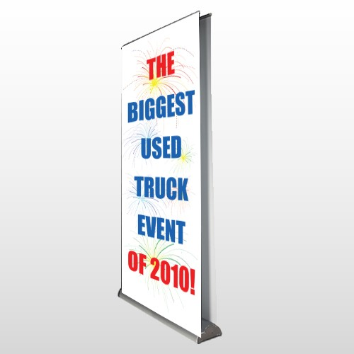 Fireworks 118 Retractable Banner Stand