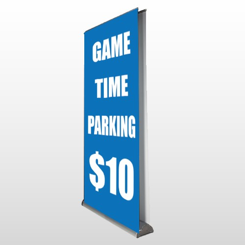 Parking 123 Retractable Banner Stand