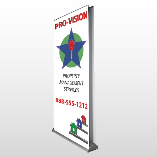 Property Management 363 Retractable Banner Stand