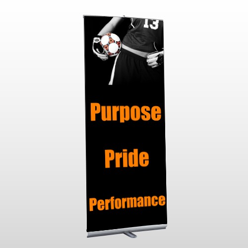Black 41 Retractable Banner Stand