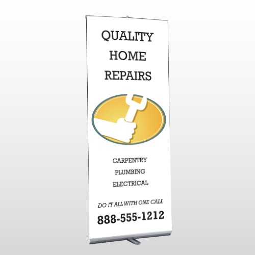 Construction 244 Retractable Banner Stand