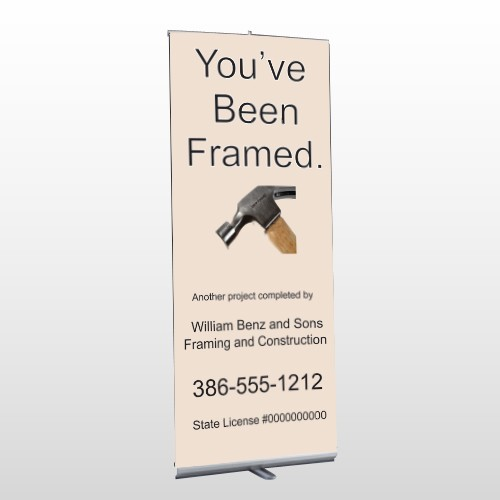 Framed 236 Retractable Banner Stand