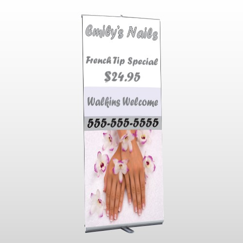 Nails 295 Retractable Banner Stand
