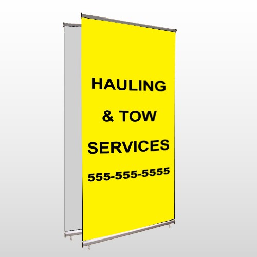 Hauling 127 Center Pole Banner Stand