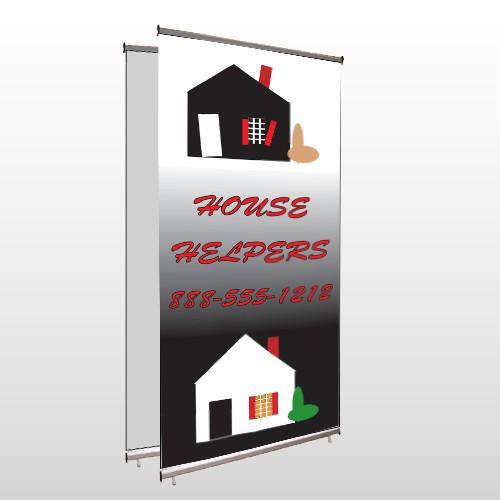 Househelper 245 Center Pole Banner Stand