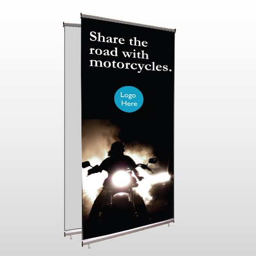 Motorcycle 106 Center Pole Banner Stand