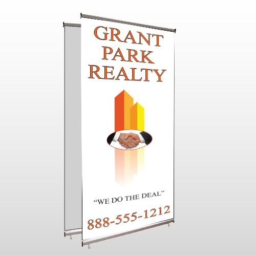 Real Handshake 365 Center Pole Banner Stand