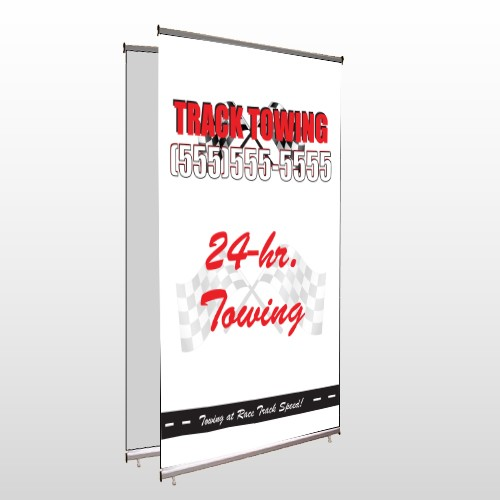 Towing 126 Center Pole Banner Stand