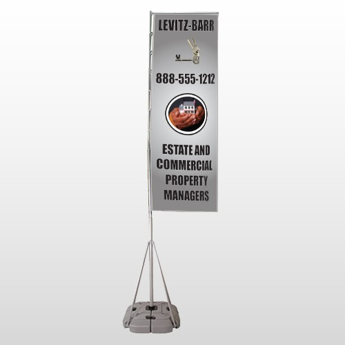 Bar 362 Exterior Flag Banner Stand