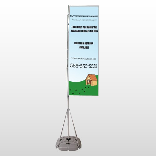 Hunting 301 Exterior Flag Banner Stand