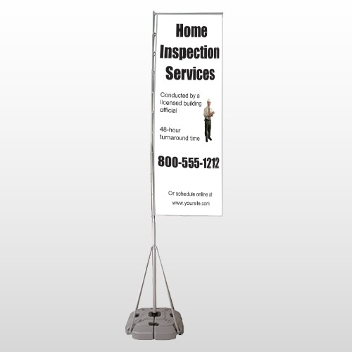 Home Inspection 360 Exterior Flag Banner Stand