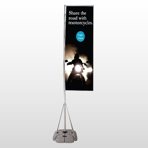 Motorcycle 106 Exterior Flag Banner Stand