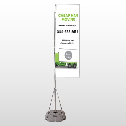 Moving 121 Exterior Flag Banner Stand