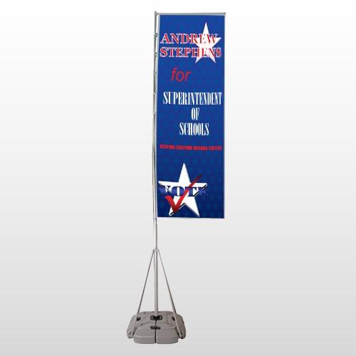 Superintendent 306 Exterior Flag Banner Stand