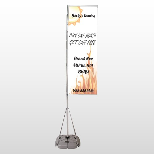 Tanning 298 Exterior Flag Banner Stand