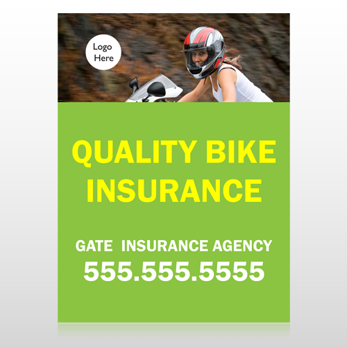 Bike Insurance 110 Custom Sign