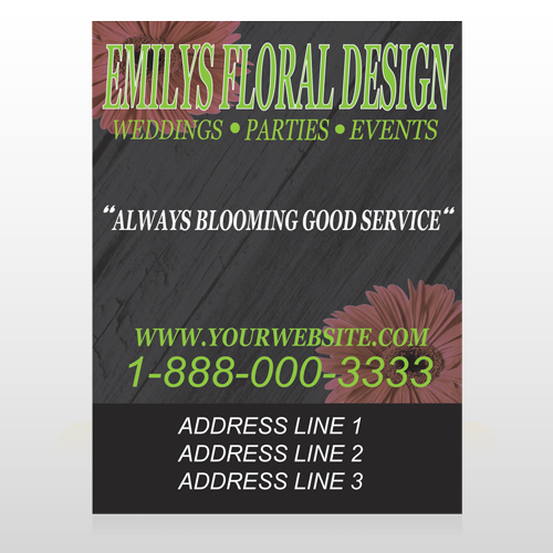 Black and Floral 496 Custom Decal