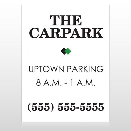 Car Park 122 Custom Sign