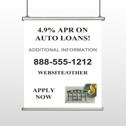 Auto Loan 155 Hanging Banner