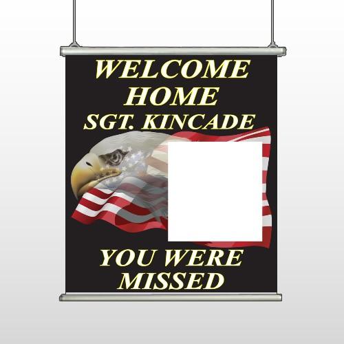 Eagle Flag 307 Hanging Banner