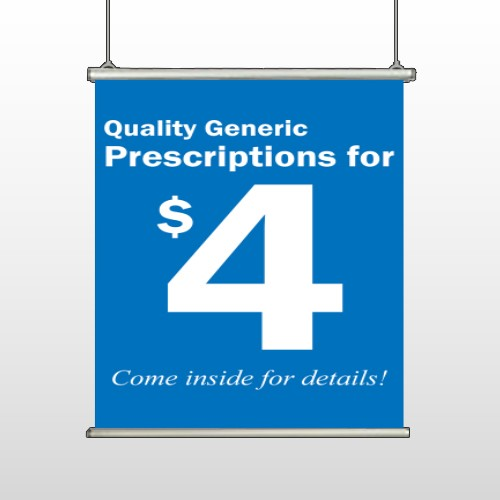 Pharmacy 102 Hanging Banner