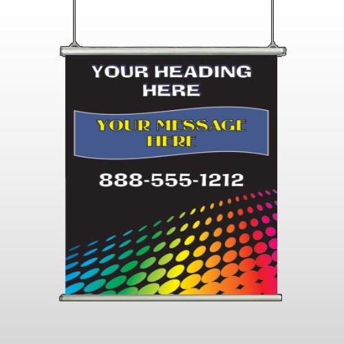 Rainbow Dots 143 Hanging Banner