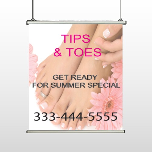 Tips And Toes 488 Hanging Banner