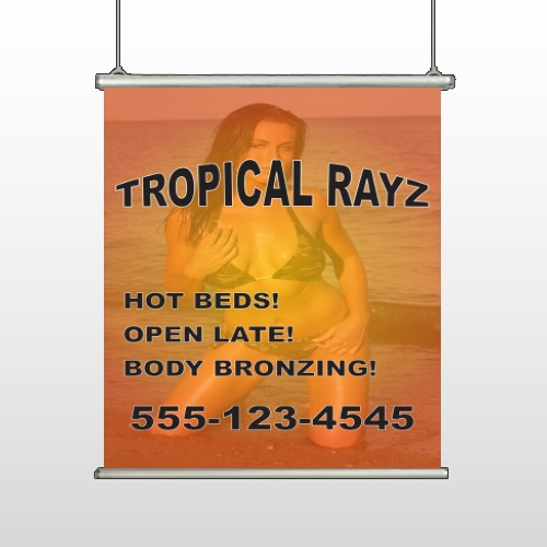 Tropical Rayz Tan 490 Hanging Banner