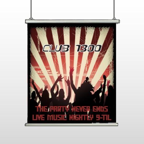 Night Club 523 Hanging Banner