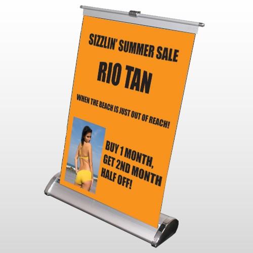 Rio Tan Beach 489 Retractable Counter Top Stand