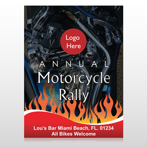 Motorcycle Flame 322 Custom Sign