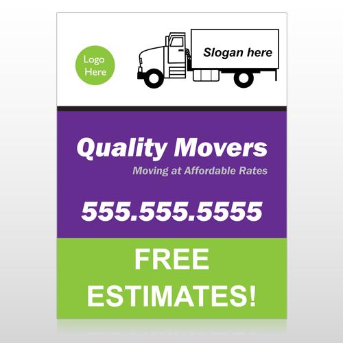Moving Truck 293 Custom Sign