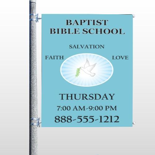 Bible Dove 162 Pole Banner