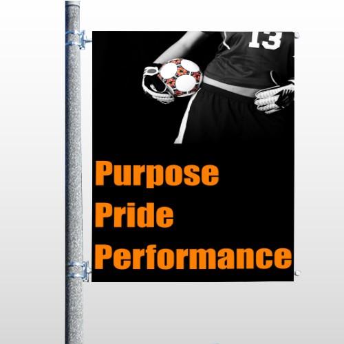 Black 41 Pole Banner