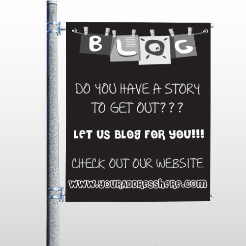 Blog Line 430 Pole Banner